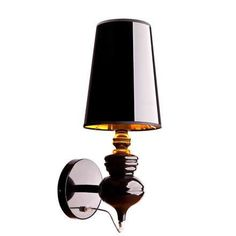 Kinkiet LAMPA ścienna ALASKA BLACK 5754 Nowodvorski abażurowa OPRAWA IP20 glamour złote czarny