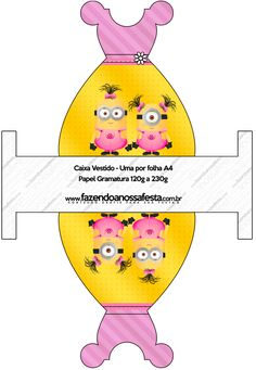 Caixa Vestido Minions para Meninas