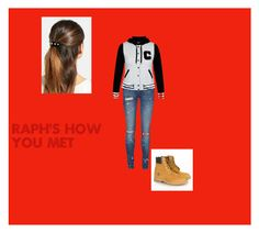 """""""Raph's how you met"""" by fangirl-central2316 ❤ liked on Polyvore featuring L. Erickson, Vero Moda and Timberland"""