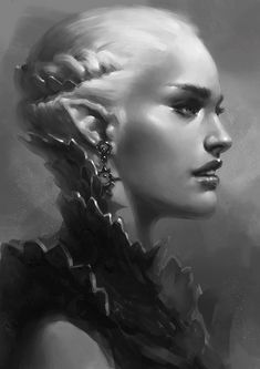 Armored Elf Bust by Arsinoes.deviantart.com on @deviantART