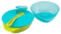 Tommee Tippee 2-pack Explora Easy Scoop Bowls with Spoon - Teal/Green (teal)