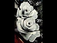 Pittura cinese la rosa. micro pittura. come dipingere con colori acrilici - YouTube