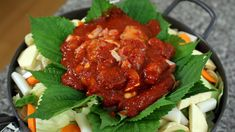 Spicy grilled chicken and vegetables (Dakgalbi: 닭갈비). This is the dish that made me fell in love with Korean food back in 2002 :)