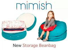 A bean bag where you can store blankets and pillows. This would be great in my son's room!