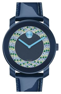 Movado+'Bold'+Crystal+Dial+Patent+Leather+Strap+Watch,+36mm+available+at+#Nordstrom