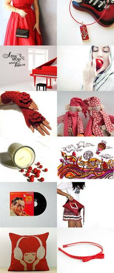 122.  the sound of music in red by lady lovely on Etsy--Pinned with TreasuryPin.com