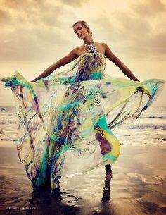 Maud Welzen Stuns Un 'La Isla Bonita' By David Burton For Elle Italia July2015 - 3 Sensual Fashion Editorials | Art Exhibits - Women's Fashion & Lifestyle News From Anne of Carversville