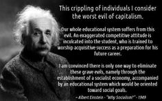 genius... - (albert einstein)(socialist)(socialism)(education)(quote)