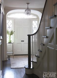 Foyer Front Door Dream Home In 2019 House Front Door . Know More About Colonial House Exterior Ideas. Home Design Ideas New England Decor, New England Homes, New England Style, New Homes, Entry Stairs, Entry Foyer, Front Entry, Colonial Front Door, Bungalow