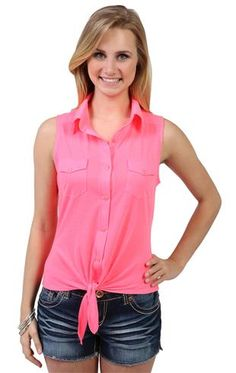 Deb Shops #neon #pink top