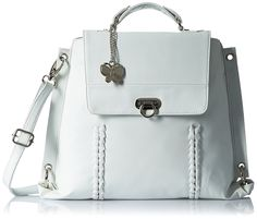 Butterflies Women's Handbag (White)(BNS 0351)