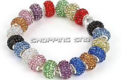 15mm & 11mm Czech Crystal Big Hole Beads  Our Charm Beads Are - Premium Quality!  High quality in EU and US quality standard !