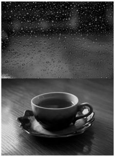 That's life ... watching rain drops hitting the window and enjoying a cup of warm coffee in my cozy home ...