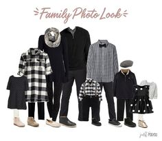 Trying to decide what to wear for family pictures? Here is the perfect coordinating look of black and white! Picture perfect for a family look! This link also had 7 other looks including some that are perfect for fall and Christmas! Source by Look black
