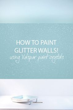 Paint additive to create glitter in whatever color of wall/ceiling paint you want. Dries flat so you can paint over it with no bumps.