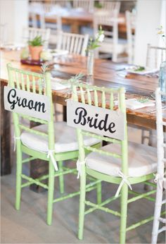 groom and bride sign on chairs - Barns at Hamilton Station Wedding - Leesburg VA wedding - MySweetTeaPhoto.com