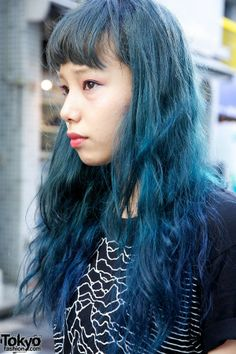 Blue Hair in Harajuku