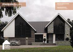 Tony Holt Design_Spencer Road_Remodel_Index. Bungalow Exterior, Bungalow Renovation, Dream House Exterior, House Cladding, Facade House, Bungalow Conversion, Bungalow Extensions, Self Build Houses, Modern Villa Design