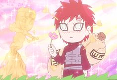 Gaara! But why does cupid have Yamato's face, of all people!?