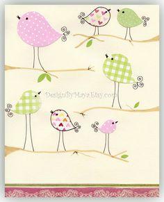 cute birdie print