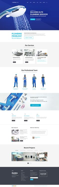 WordPress theme is designed for plumbing companies and firms, but it fits perfectly for any home repair and maintenance business website