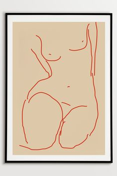 Nude Art Print by Fluorama#fluorama#fluoramaposters#art#artprint#posters#nudeprints#interiordesign#wallart