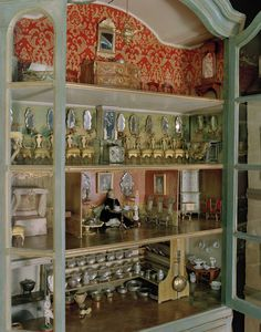 """An antique Swedish """"Dockhus"""" or Dollhouse, made in the 1700's. On display at Nordiska Museet, Stockholm"""