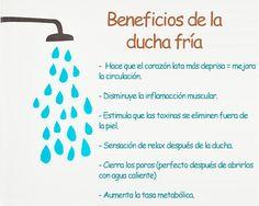 Beneficios de la ducha fría para la #salud