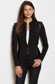 Armani Exchange Womens Strong Shoulder Jacket $118.00 #A|XArmaniExchange #Jackets #Blazers