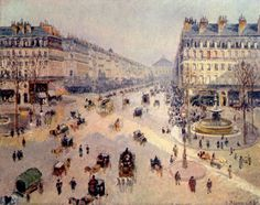 Avenue de l'Opéra, 1898, by Pissarro
