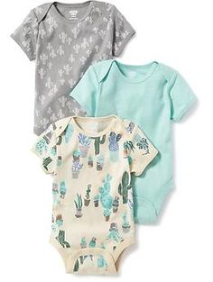 Printed 3-Pack Bodysuit for Baby | Old Navy