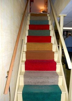 Free Carpet Samples DIY Stair Runner.