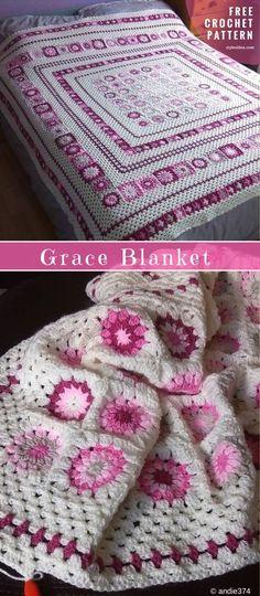 Grace Blanket Free Crochet Pattern size: any   Written   US Terms Level: intermediate hook: 4.0 mm (G) yarn: Stylecraft Special Double Knit Author: by Anita Gibney #GraceBlanket #FreeCrochetPattern #Crochetlanket #crochetBedspread