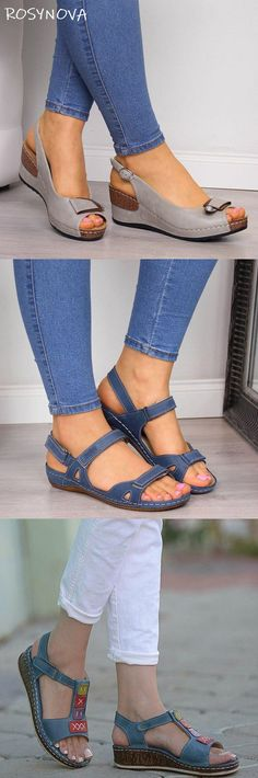 Mensootd is filled with the season's hottest trends, available in all sizes. You can buy the trendy fashion shoes, clothing and bags here. Enjoy your shopping journey now! Trendy Fashion, Womens Fashion, Comfortable Sandals, New Shoes, Wedge Sandals, Fashion Shoes, Shoe Boots, Shop Now, Espadrilles