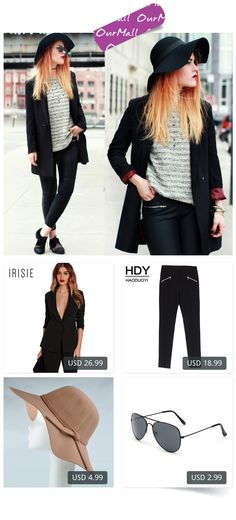 This is Lua P's buyer show in OurMall;  1.Black Office Blazer Suit Jacket Female Casual Slim Elegant Women Suit Coat V Neck Sexy Chic 2.Fashion Slim Pencil Pants Women High Waist Female Zippers Trouse Street Brief Style 3.Hot Fashion Women\'s Lady with Wide Brim Wool F... please click the picture for detail. http://ourmall.com/?m6VBJ3  #coat #windbreaker #longcoat #springcoat #girlscoat #coatforwomen #femalecoat #trenchcoat #capecoat #rackcoat #womencoat