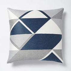 Velvet Diamonds Pillow Cover - Blue Lagoon #westelm