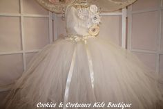 ivory and white  vintage lace and tulle by cookiesandcostumes