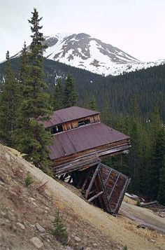 Hancock, Colorado. Love what the years of weather has done to the condition of this mining building.....