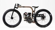 Ice Cycle Moped by Joey Ruiter | Based on J.Ruiter's bicycle steel backbone frame | 2 stroke engine