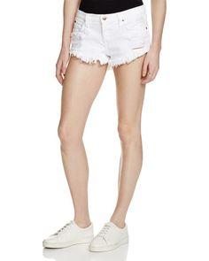 Pistola Gigi Denim Cutoff Shorts in Oslo Women - Shorts & Skirts - Shorts - Bloomingdale's Black Jean Shorts, White Denim Jeans, Black Skinnies, Distressed Denim, Denim Cutoff Shorts, Oslo, Cropped Flare Pants, Light Wash Skinny Jeans, Php