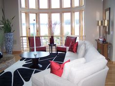Contemporary Living-rooms from Will Smith on HGTV - Very clean..love the colors