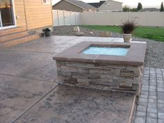 Stamped Concrete is the process of adding texture and color to concrete. This process makes ordinary concrete to resemble stone, brick, slate, cobblestone and much more. There are endless possibilities with Stamped Concrete! Stamped Concrete, Slate, Brick, Patio, Texture, Outdoor Decor, Color, Design, Home Decor