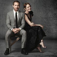 Ryan Gosling y Emma Stone en La La Land ❤❤