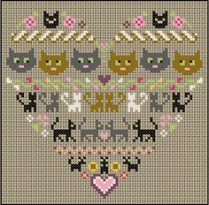 cats cross stitch.......For Patt, you can do it!