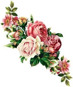 Vintage Roses Garland