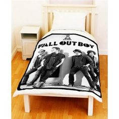 Fall Out Boy Rock Band Fleece Throw Blanket - SuitUpCaseCover
