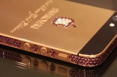This is a beautiful customised iPhone 5 on an rose gold frame inlaid with  over 500 of Swarovski crystals 7ea8f7f31108