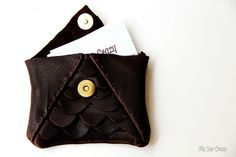 Scalloped Leather Clutch 3 by mesewcrazy