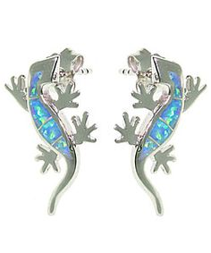 Sterling Silver Gecko earrings