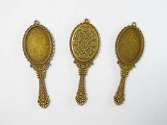 Καθρέπτης μεταλλικό στολίδι προσφορά σε χρώμα μπρούτζου για μπομπονιέρα βάπτισης μαρτυρικά , κολιέ, βραχιόλια, κατασκευές, διακοσμήσεις στολισμό, κρεμαστά Bling, Drop Earrings, Accessories, Jewelry, Jewel, Jewlery, Jewerly, Schmuck, Drop Earring